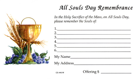 All Souls Day Offering Envelope