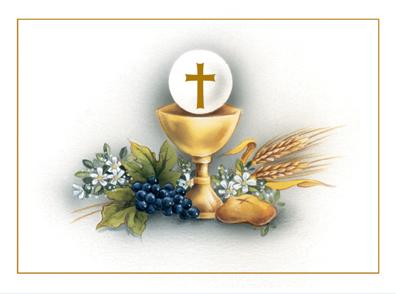 Chalice With Host Holy Water Font - Catholic to the Max ...