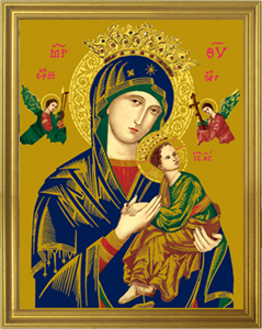Our Lady of Perpetual Help Framed Print