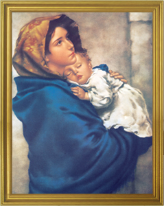 Madonna of the Streets Framed Print