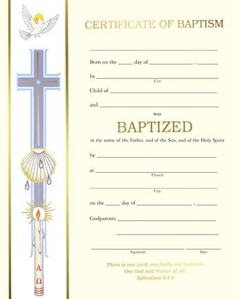 Baptism  Banner Baptism Certificate