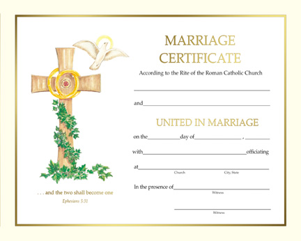 Marriage / Anniversary - Spiritual Marriage Certificate