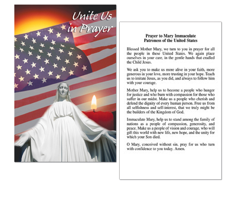 Unite Us in Prayer Holy Card