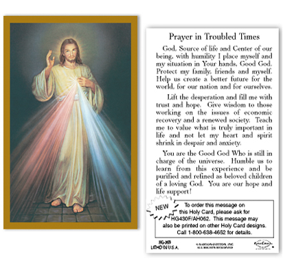 Divine Mercy - Prayer in Troubled Times