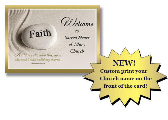 Custom Welcome to our Church Card